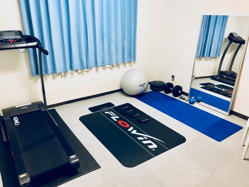 アットホームでシンプルなトレーニングルーム